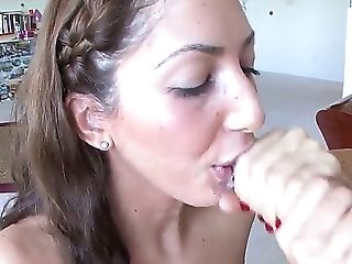 Angelica Saige, Big Tits, Blowjob, Brunette, MILF, Sexy,