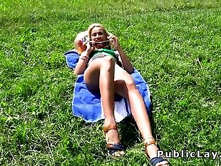 Beauty, Blonde, Fucking, Nature, Outdoor, Park, POV, Riding, Serbian,