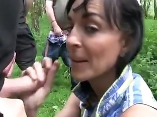 Big Tits, Brunette, Exotic, Gangbang, Group Sex, Homemade, Outdoor,