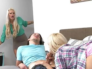 American, Babe, Bedroom, Blonde, Boyfriend, Captive, Family, FFM, Group Sex, Holly Heart,