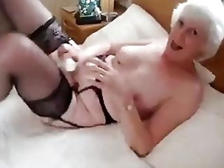 Amateur, Granny, Lingerie, Masturbation, Sex Toys, Stockings,