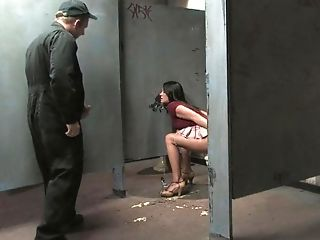 Bathroom, BDSM, Brunette, Clothed Sex, Deepthroat, Hardcore, Humiliation, Punishment, Rough, Savannah Stern,