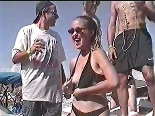 Beach, Curvy, Naughty, Outdoor, Party, Slut,