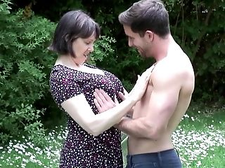 Amateur, Granny, HD, Mature, MILF, Mom, Nature, Old And Young, Outdoor, Son,
