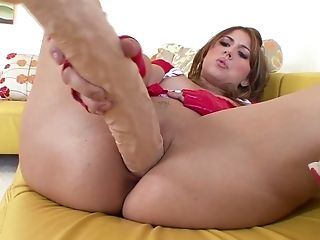 Ass, Aza Haze, Beauty, Couch, Cute, Dildo, Freckled, Horny, Jerking, Masturbation,