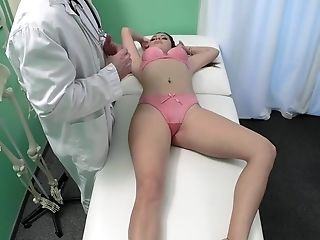 Amateur, Clinic, Cum, Desk, Doctor, Hospital, Lingerie, Panties, Slut, White,