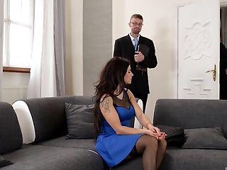 Anal Sex, Ass, Big Tits, Blowjob, Brunette, Cute, Doggystyle, Handjob, Hardcore, High Heels,