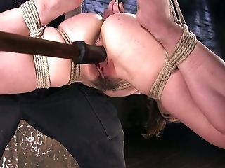 Anal Sex, BDSM, Bondage, Jerking, Juliette March, Pick Up, Rough, Sex Toys,