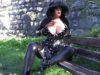 Amateur, BBW, Big Tits, Blowjob, Brunette, Cum, German, Gloves, Handjob, Latex,