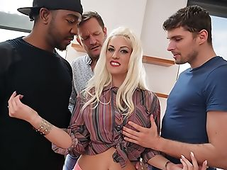Anal Sex, Big Black Cock, Big Tits, Black, Blonde, Blowjob, Cumshot, Double Anal, Double Penetration, Facial,