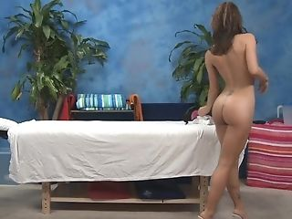 Ass, Brunette, Massage, Skinny, Tanned, Teen, White, Young,