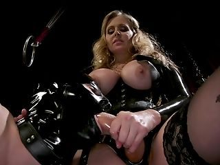 Abuse, BDSM, Bondage, Feet, Femdom, Fetish, Foot Fetish, Julia Ann, Latex, Mistress,