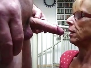 Blonde, Blowjob, Glasses, Mature, Slut,