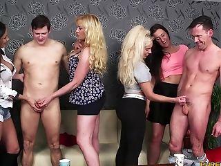Blonde, Blowjob, Brunette, CFNM, Clothed Sex, Handjob, Long Hair, Mature, MILF,