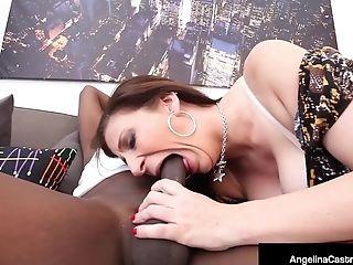 Angelina Castro, BBW, Big Black Cock, Big Tits, Black, Blowjob, Cuban, Cumshot, HD, Sara Jay,