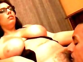 BBW, Big Tits, Black, Brunette, Chubby, Couple, Fucking, Glasses, Hairy, Moaning,