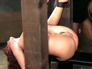 BDSM, Black, Ginger, Naughty, Pain, Redhead, Threesome, White, Wild,