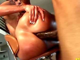 Anal Sex, Ass, Bareback, Big Black Cock, Blowjob, Brunette, Close Up, Couple, Doggystyle, Fake Tits,