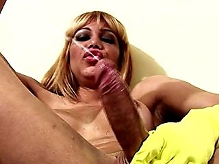 Big Cock, Big Tits, Ethnic, Gloves, Handjob, HD, Latina, Masturbation, Rough, Rubber,