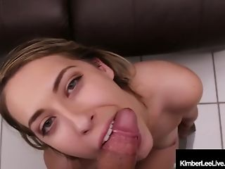 Babe, Blonde, Blowjob, Boobless, Cumshot, Dick, Green Eyes, Handjob, Masturbation, Natural Tits,