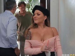 Big Tits, Blowjob, Clamp, Couple, Cumshot, Facial, Fetish, Foot Fetish, Hardcore, Karmen Karma,