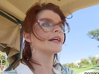 Big Tits, Golf, Hardcore, HD, Joslyn James, MILF, Redhead, Teen,